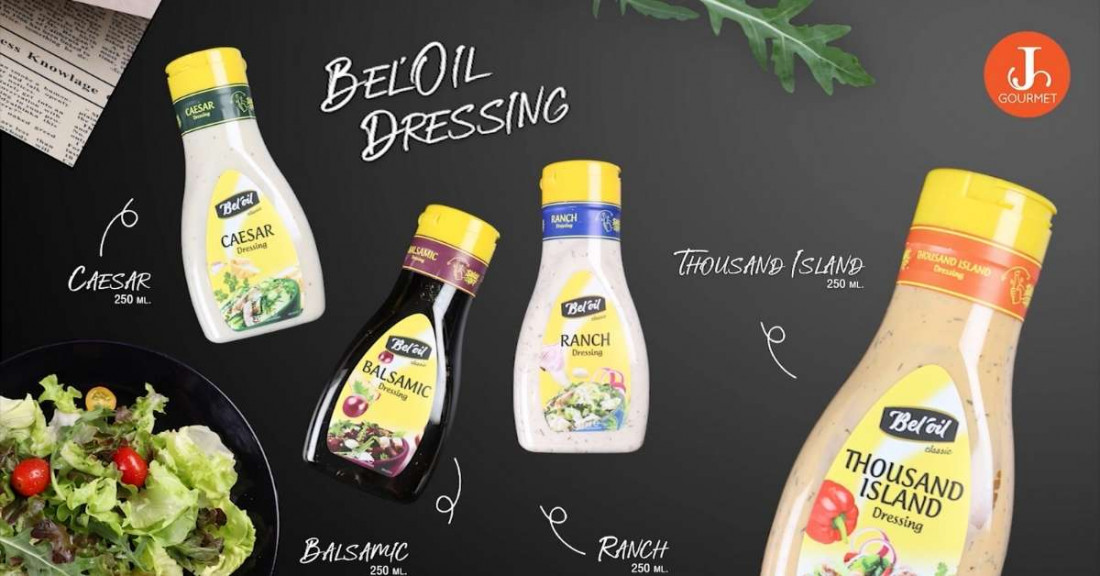 อยู่ดี กินดี สไตล์เจ Bel'Oil Dressing เบล'ออยล์ น้ำสลัดยอดนิยมจากประเทศเบลเยียม [มี Clip VDO]
