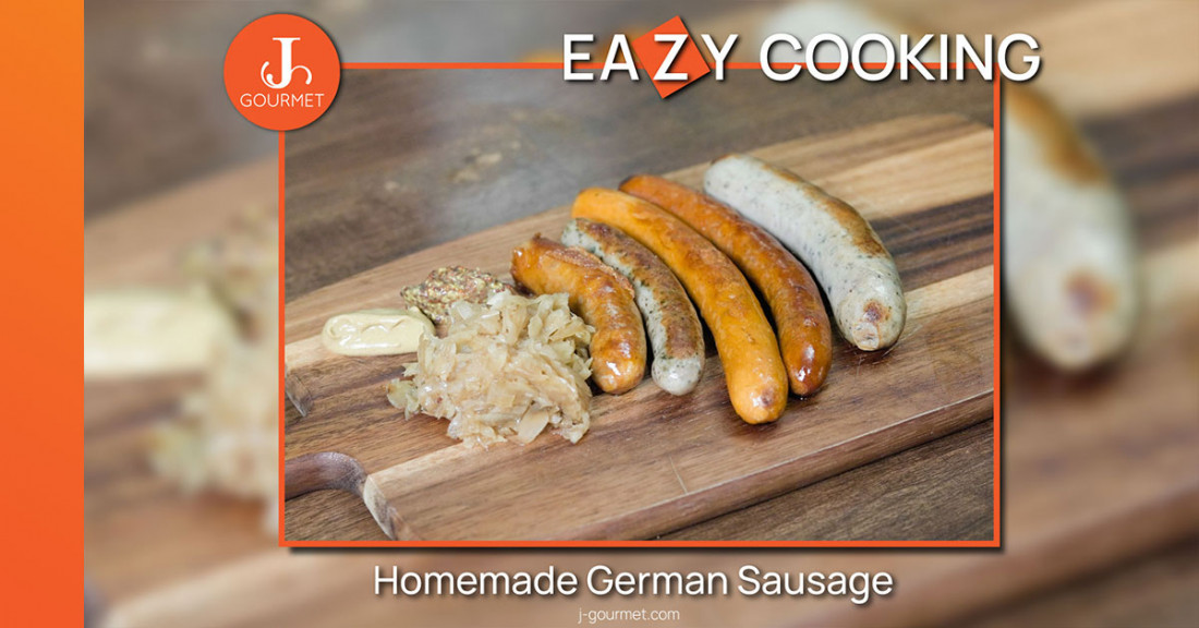 Grilled Homemade German Sausage  ไส้กรอกเยอรมัน สูตรลับสไตล์โฮมเมด [เมนูเข้าครัว VDO]