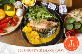 Southern Style Salmon Curry with Pineapple [เมนูเข้าครัว VDO Salmon Lover]