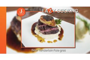Beef Tenderloin foie gras สเต๊กเนื้อสันในและฟัวกราส์