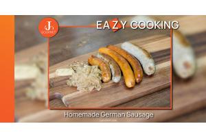 Grilled Homemade German Sausage  ไส้กรอกเยอรมัน สูตรลับสไตล์โฮมเมด